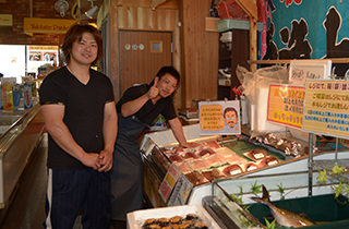魚介類販売コーナー